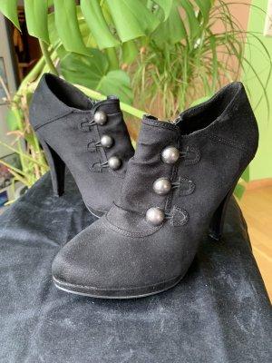 Stiefeletten Pumps schwarz