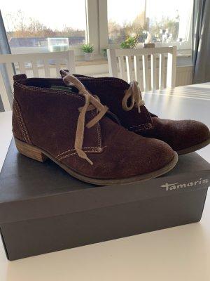 Tamaris Chaussures à lacets brun-chameau