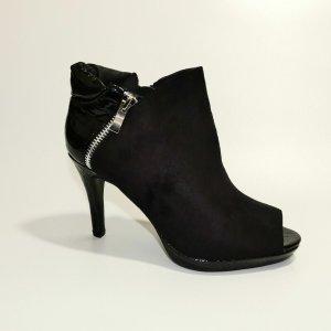 Stiefeletten Schuhe Ankle Boots Pumps Stiletto Pumps Samt Optik