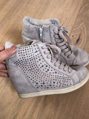Stiefeletten Schuhe Boots beige grau Gr. 36