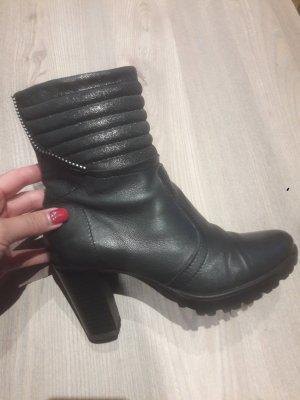 Stiefeletten Schuhe Damen Absatz graublau