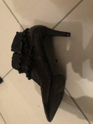 Kennel & Schmenger Peep Toe Booties black leather