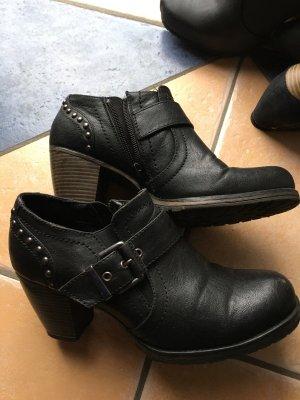 Stiefeletten schwarz Gr. 38