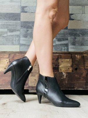 Stiefeletten schwarz Leder neu Größe 38 KIOMI