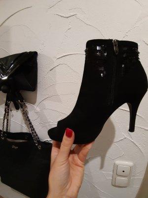 Tamaris Peep Toe Booties black