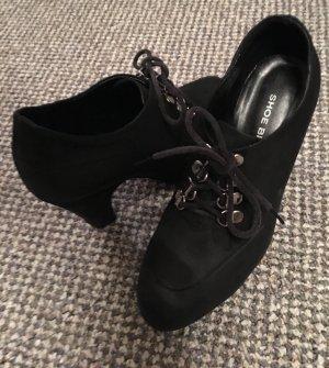 Shoe Biz Copenhagen Aanrijglaarsjes zwart-zilver Leer