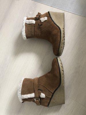 Skechers Botas de cuña marrón