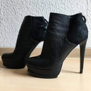 Topshop Cut Out Booties black
