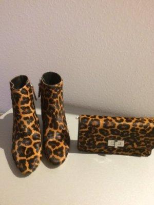 Zara Zipper Booties cognac-coloured-black brown