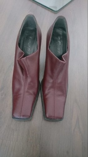 Vintage Stivaletto arricciato bordeaux