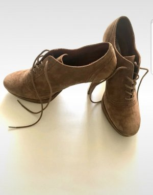3 Suisses Lace-up Booties light brown