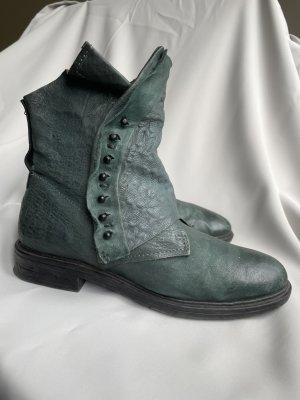 A.S.98 Low boot bleu pétrole-bleu cadet cuir