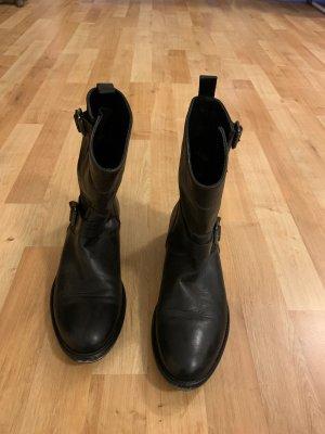 Belstaff Slip-on Booties black brown leather