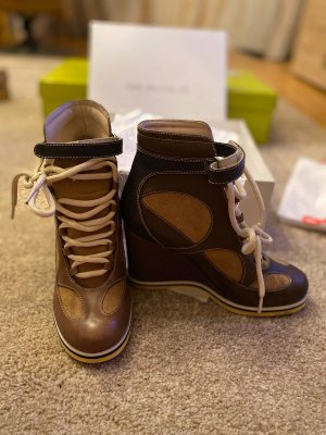 Chloé Wedge Booties brown