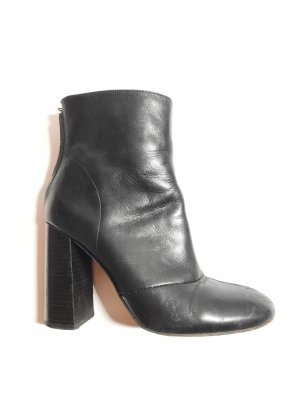 French Connection Krótkie buty czarny Skóra