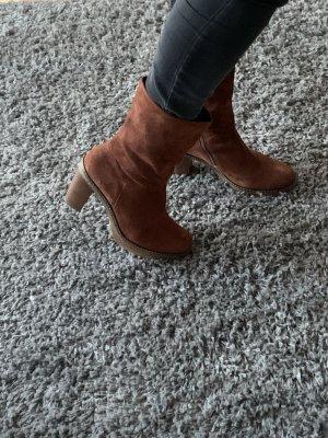 Gabor Bottines à plateforme brun rouge