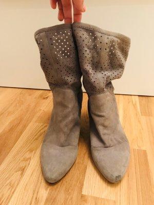 Görtz Shoes Reißverschluss Stiefeletten rot Casual Look