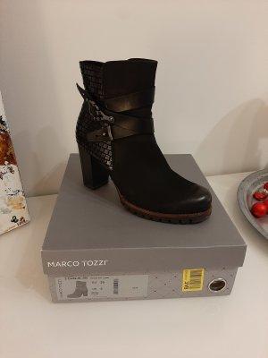 Stiefeletten von Marco Tozzi mit Leder schwarz