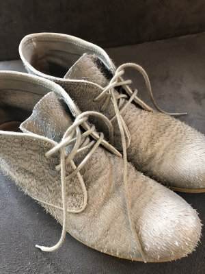 Sommerkind Lace-up Booties light grey leather