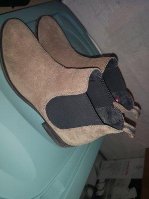 Tamaris Wciągane buty za kostkę beżowy