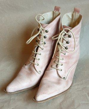 Stivaletto stringato rosa pallido-rosa antico Pelle