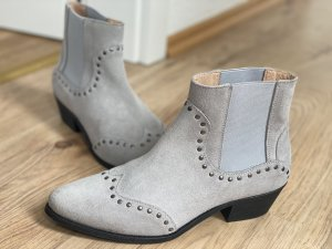 Shoe the Bear Slip-on Booties light grey leather