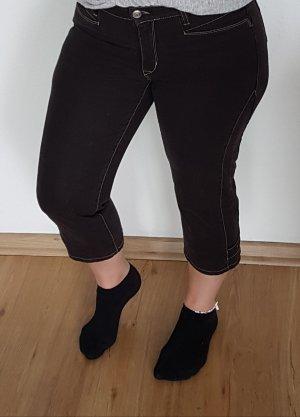 Cambio Jeans Spodnie 3/4 ciemnobrązowy