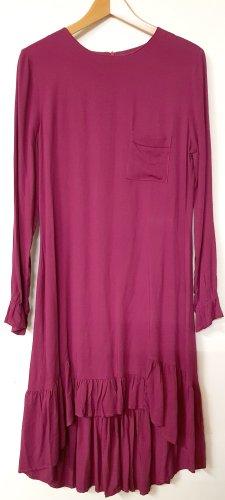 Sukienka z falbanami głęboka czerwień-bordo