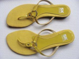 Sandales Salomé à talon haut jaune citron vert