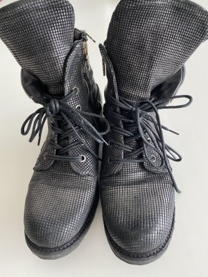 A.S.98 Booties black leather