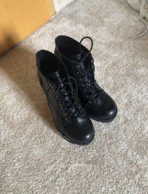 H&M Bottines à lacets noir
