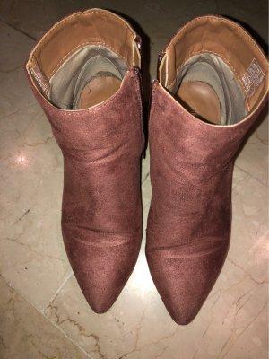 Anna Field Laarsjes met rits stoffig roze-roze
