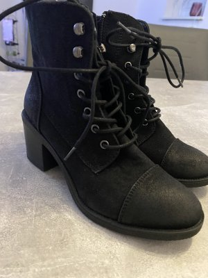 C&A Lace-up Booties black