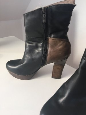 Tamaris Peep Toe Booties dark brown