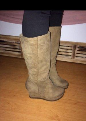 Danny Shoes Bottine à talon compensé marron clair