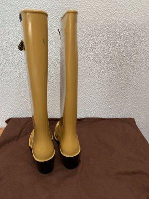 Marc Jacobs Botte en caoutchouc orange doré