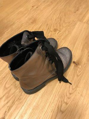 Jenny Futrzane buty antracyt-w kolorze różowego złota