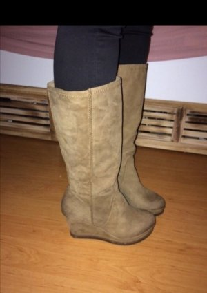 Danny Shoes Wedge Booties light brown