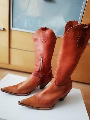 Botas estilo vaquero coñac