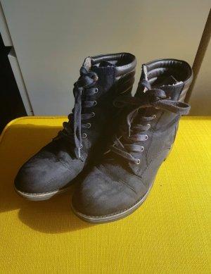 Stiefeltten / Boots Damen blau