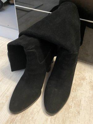 Michael Kors Botas sobre la rodilla negro-color oro