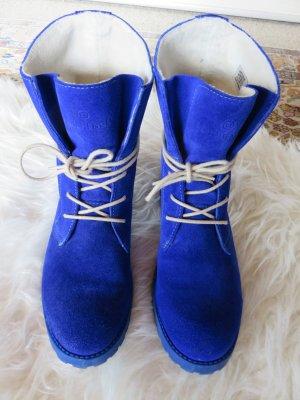 Schuhengel Bottines à lacets bleu cuir