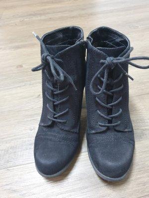 Bottines à lacets noir