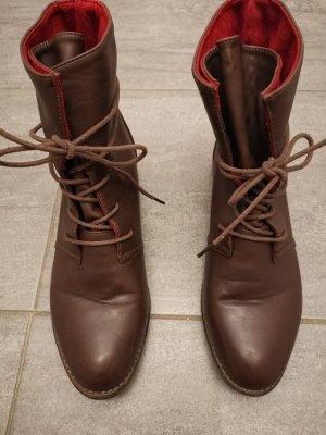 Bottines plissées brun