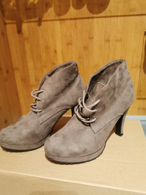 Only Pink Platform Booties grey