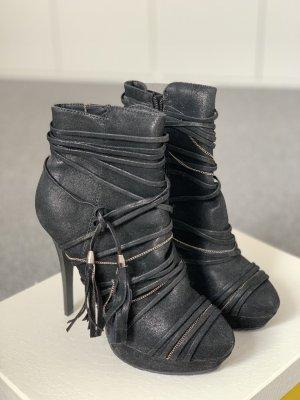 Stiefletten schwarz 37