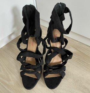 Just Fab Hoge hakken sandalen zwart