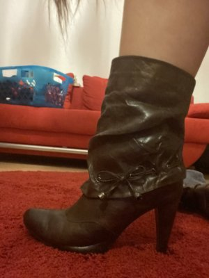 Western Booties brown leather