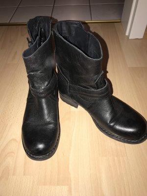 Stifellete Leder schwarz 38
