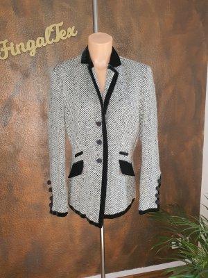 STIFF Blazer en laine blanc-noir